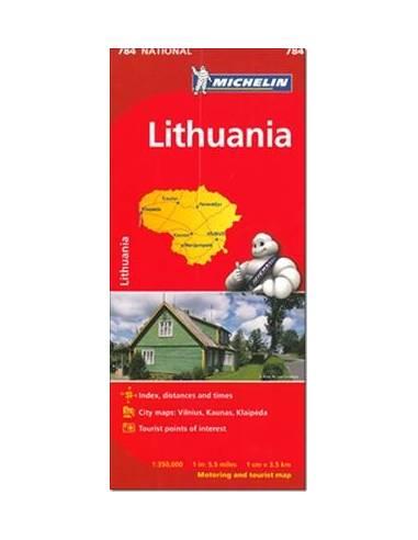 MN 784 LITVÁNIA AUTÓTÉRKÉP (LITHUANIA)