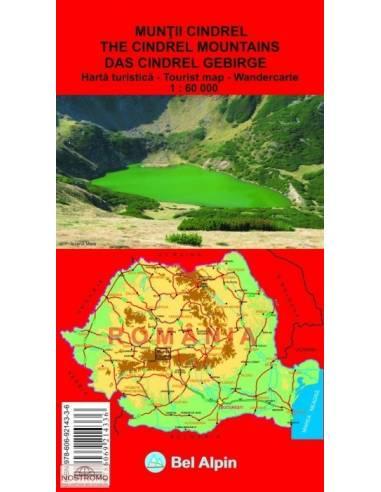 Szebeni-havasok térkép (Muntii Cindrel)