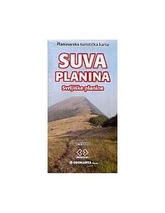 Suva Planina turistatérkép