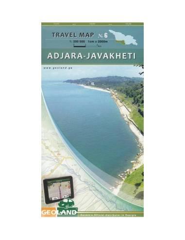 Adjara -Javakheti térkép (Grúzia...
