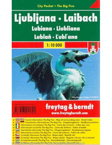 Ljubljana laminált zsebtérkép-City...