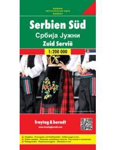 Dél-Szerbia térkép