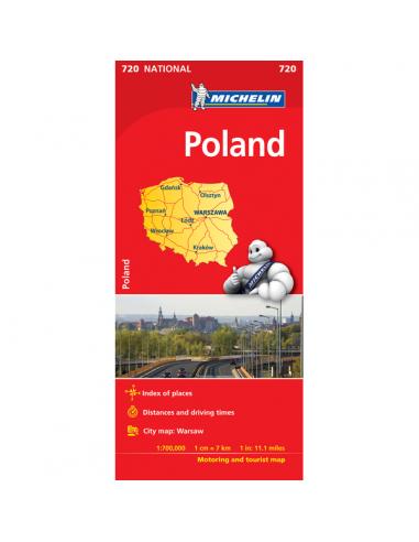 MN 720 Poland - Lengyelország térkép