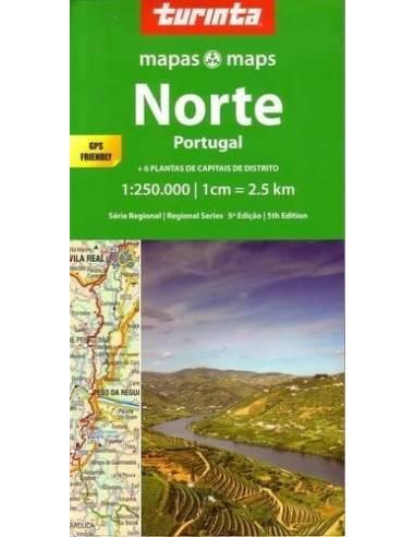 Norte Portugal - Észak-Portugália térkép