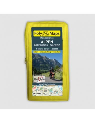 Alpok (Ausztria-Svájc) motoros térkép...