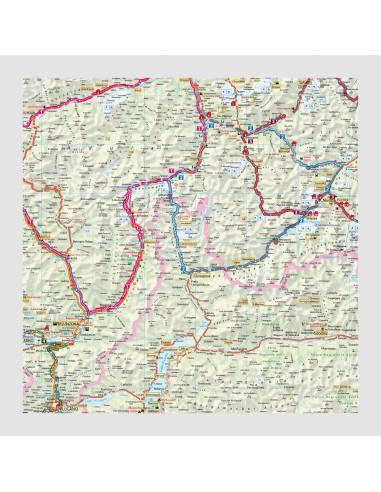 Alpok Ausztria Svajc Motoros Terkep Laminalt Biker Betten