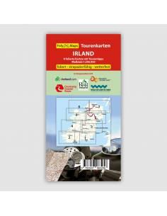 Írország motoros térkép LAMINÁLT - Biker Betten