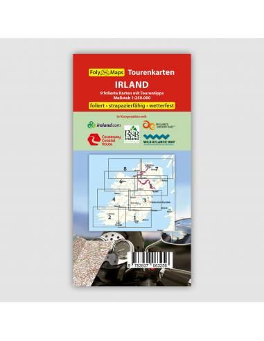 Írország motoros térkép LAMINÁLT -...