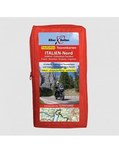 Olaszország - Észak motoros térkép...