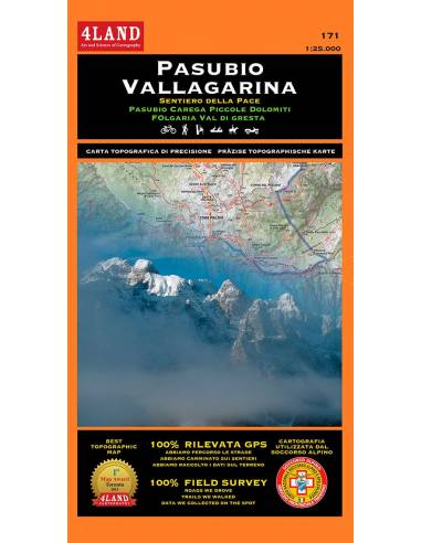 4LAND-171 Pasubio - Vallagarina térkép