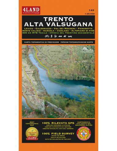4LAND-143 Trento - Alta Valsugana térkép