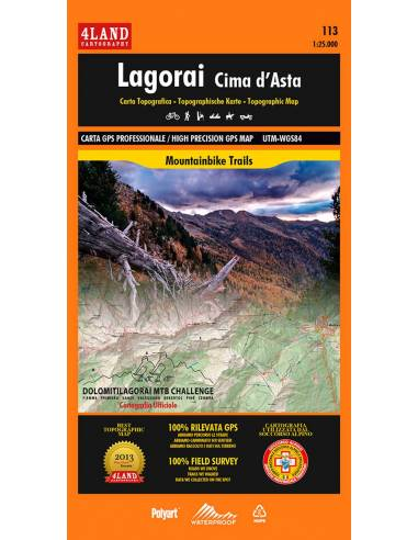 4LAND-113 Lagorai - Cima d'Asta térkép