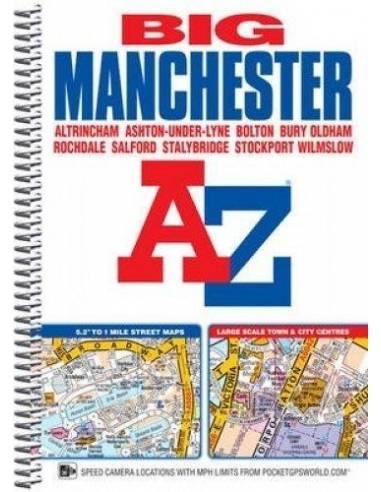 Manchester BIG Street atlasz spirál A-Z
