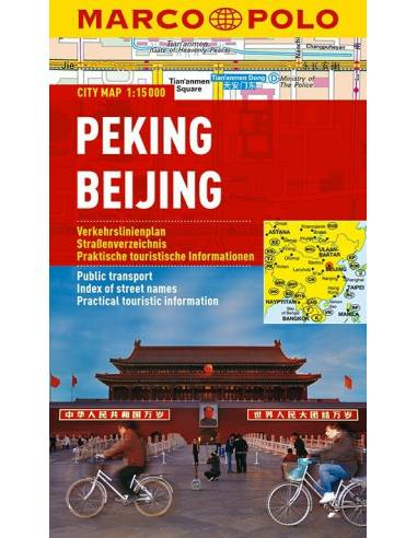 Peking city map laminált - Marco Polo