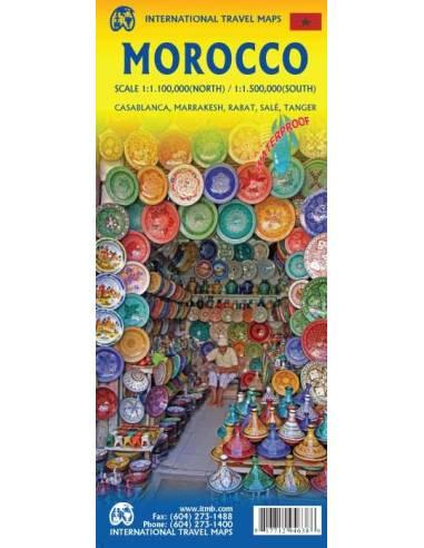 Morocco - Marokkó térkép