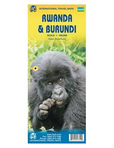 Rwanda (Ruanda) & Burundi térkép