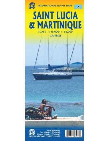 Saint Lucia & Martinique térkép