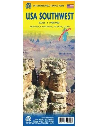 USA southwest - USA délnyugat térkép