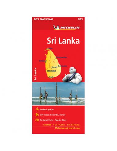 MN 803 Sri Lanka térkép