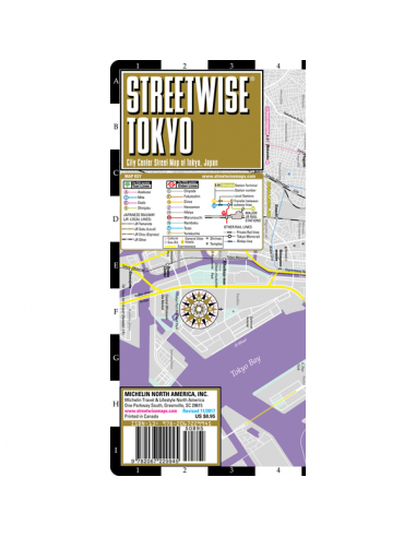 Streetwise Tokyo- Tokió Map
