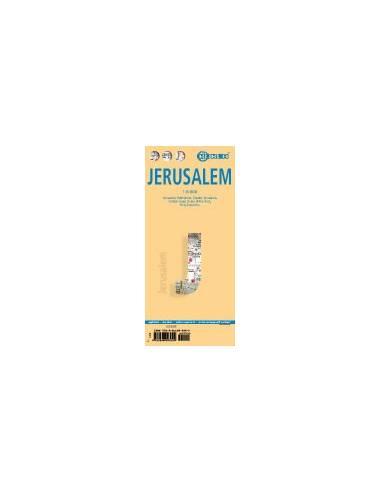 Jerusalem - Jeruzsálem térkép -...