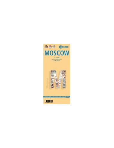 Moscow - Moszkva térkép - (laminált)...