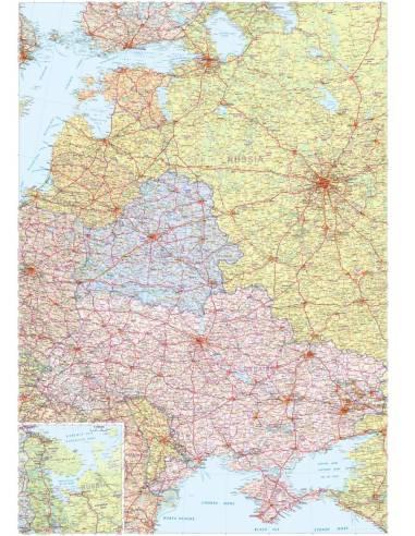 Eastern Europe Kelet Europa Terkep