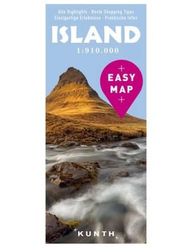 Izland – Urlaubskarte EASY MAP