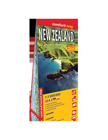 New Zealand - Új-Zéland térkép -...
