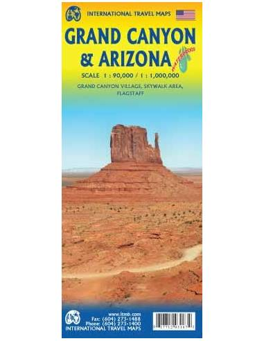 Grand Canyon & Arizona térkép - vízálló