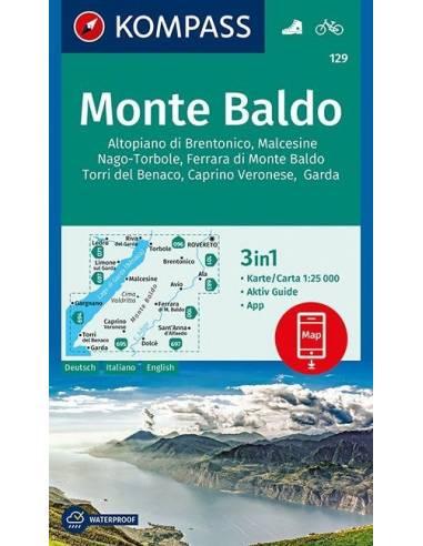 KK 129 Monte Baldo turistatérkép