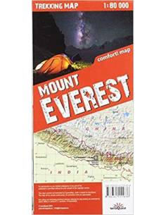 Mount Everest trekking map...