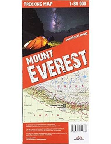 Mount Everest trekking map - terraQuest