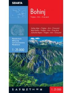 Bohinj turista térkép