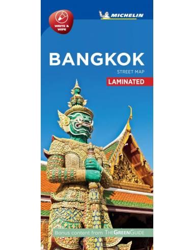 Bangkok belváros laminált térkép -...