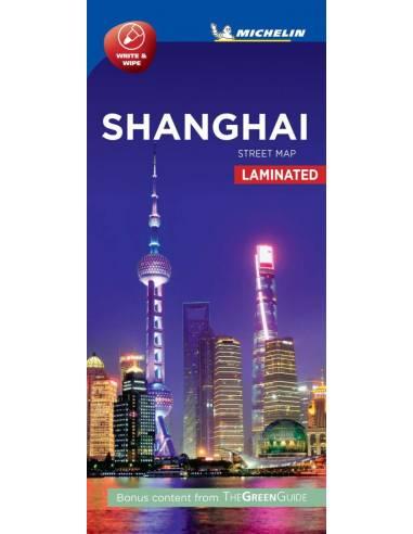 Shanghai belváros laminált térkép -...