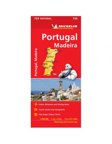 MN 733 Portugália és Madeira térkép
