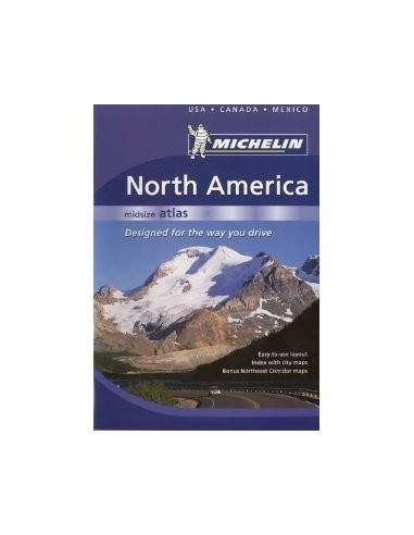North America Mid Size Atlas - USA,...
