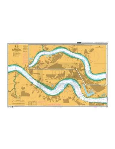 Themze térkép (Navigációs: Tilbury -...