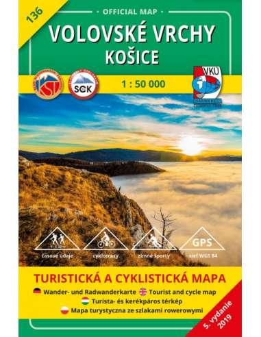 Tm 136 Rozsnyoi Hegyek Kassa Kornyeke Turistaterkep Volovske
