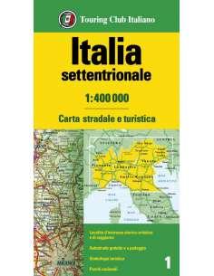 Olaszország észak térkép