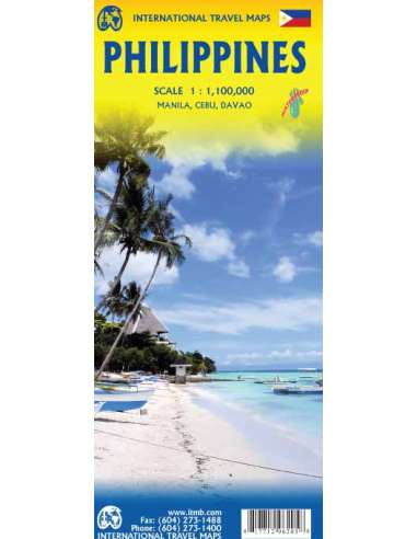 Philippines - Fülöp-szigetek térkép -...