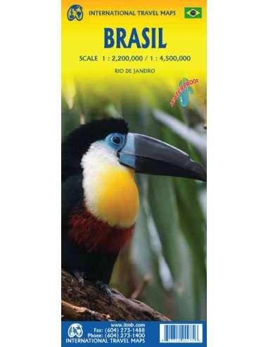 Brasil - Brazília térkép - vízálló