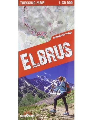Elbrus - Elbrusz trekking térkép -...