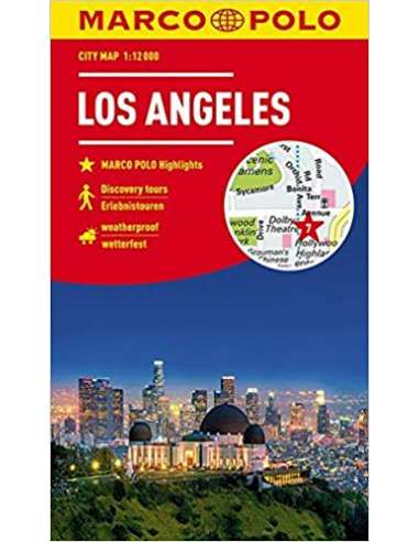 Los Angeles city map laminált  -...