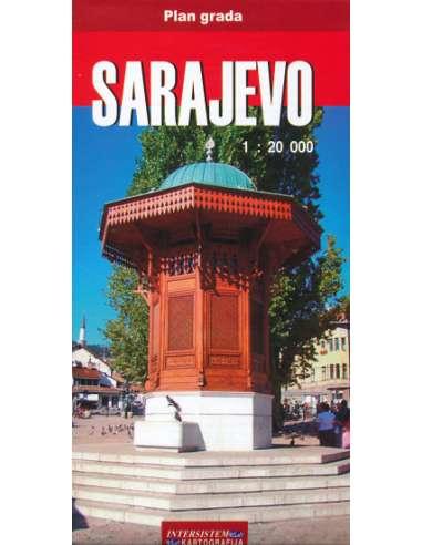 Sarajevo - Szarajevó várostérkép