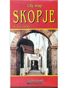 Skopje - Szkopje várostérkép
