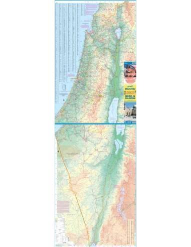 Izrael és Palesztina térkép