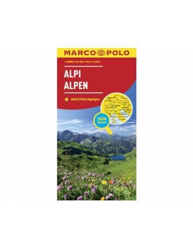 Alpok térkép - MARCO POLO