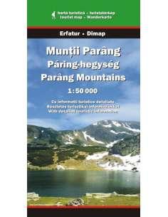 Páring-hegység térkép -...